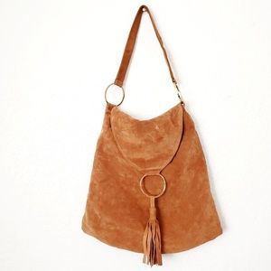 Jasmine by Cindy Newman Leather Suede Hoho Purse
